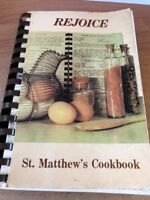 Vtg '84 Cookbook Saint Matthews Episcopal Church Horseheads NY community Recipes
