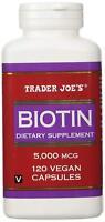 Trader Joes Biotin, 5000mcg, 120 Vegan Capsules