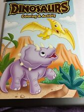 Dinosaurs Coloring & Activity Book Triceratops Pterodactyl Children Kids New