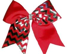 Chevron Softball Volleyball Soccer Cheer Hair Bow Free personalization