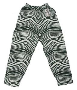 New Adult Mens Sizes XS-S-M-XL-2XL Dark Green White Zubaz Pajama Lounger Pants