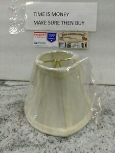 Modern Cloth Art Lamp Shades white ivory snap in Chandelier Light Cover(47d)