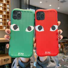 11 Pro Cartoon CDG PLAY Soft  Phone Case Cover For IPhone Xsmax  XR 7 8 Plus