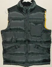 Gap Boys Vest XL 12 Brown Yellow Puffer  Zip Front