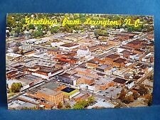 Postcard NC Lexington Airview of City Seat of Davidson County