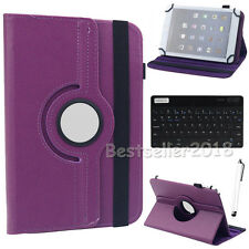 """HOT For 7"""" 7.9"""" 8"""" Android Tablet Bluetooth Keyboard +Rotate Leather Case Cover"""