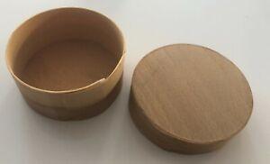 Circular Wooden Box For Crafting