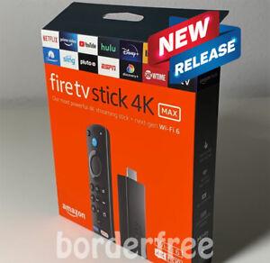 AMAZON FIRE TV Stick 4K MAX, Wi-Fi 6, Alexa Voice Remote (includes TV controls)