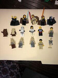Lego Star Wars Mini Figure Lot of 16 Various Figures, Ewok, Trooper, Vader