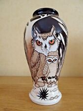 1ST QUALITY MOORCROFT FATHER & SON OWL VASE  VICKY LOVATT RETAIL £645