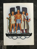 Mint 1936 Berlin Germany Olympics Picture Postcard German Athletes Drs Workers