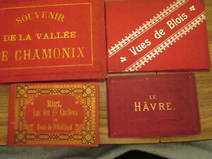 4   SWISS LEPORELLO  - 1890's -  CHAMONIX,  BLOIS,  LE HAVRE,  RIGI  ST GOTTHARD
