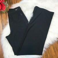 NIke Women's Black High Waist Zip Front Athletic Workout Pants Size Medium