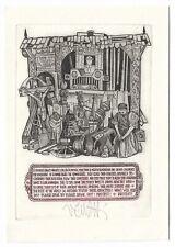 ZOLTAN VEN: Neujahrsgraphik P. F. 1989, Protest gegen ethinsche Unterdrückung
