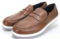 Cole Haan NWOB Men's Penny Loafers Size 11 Pebbled Leather Brown