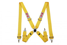 4 Point FIA Approved (2020) STR Seat Belt Safety Harness Restraint Bucket Yellow
