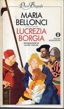 Mu33 Lucrezia Borgia Maria Bellonci Oscar Mondadori 1983
