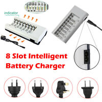 8 Slot Intelligent Battery Charger For AA AAA NI-MH NI-CD Rechargeable Batteries