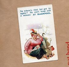 Bamforth Humour Blackpool Card Holiday series 978 unposted .seaside human b2
