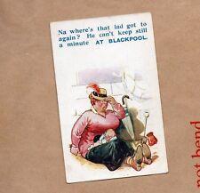 Bamforth Humour Blackpool Card Holiday series 978 unposted .seaside human b2