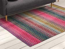 Handmade Kilim Cotton Pink Rug