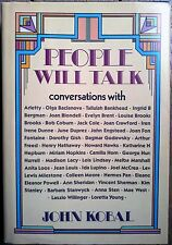 PEOPLE WILL TALK (by John Kobal) comme neuf (as new)