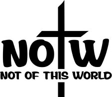 "NOTW SYMBOLIC Vinyl Decal Sticker-6"" Wide White Color"