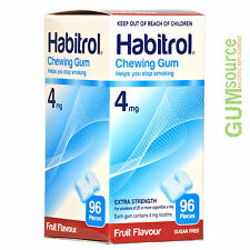 Habitrol 4mg FRUIT  2 boxes 192 pieces Nicotine Quit Smoking Gum