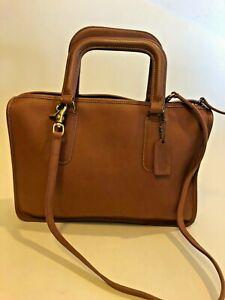Rare Authentic Coach Heritage 1970s Small Briefcase Style Bag Made USA Retro Hot