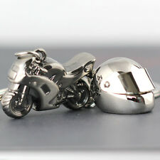 Creative Couple Motorcycle Bicycle Helmet Key Chain Ring Keychain Keyring Keyfob