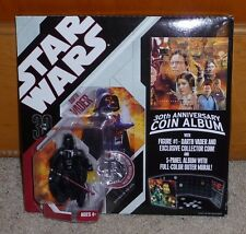 2006 Star Wars 30th Anniversary Coin Album with Darth Vader Figure MOC