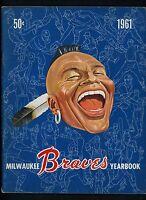 1961 Milwaukee Braves Yearbook Hank Aaron Eddie Mathews Warren Spahn