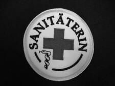 Sanitäterin Rundemblem Emblem Patch AufnäherNEU