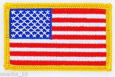 PATCH ECUSSON BRODE DRAPEAU USA AMERICAIN ETATS UNIS INSIGNE THERMOCOLLANT FLAG