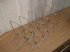 "10 CHROME PLATE DISPLAY STANDS UP TO 12"" (30CM) ITEM (7""/17cm tall approx) METAL"