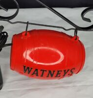 Vintage Watneys Red Barrel Electric Lighted Beer Keg Sign With Accessories Works