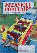 Rivista Meccanica Popolare N° 135 Navigazione Voile Panificio Camper 1957