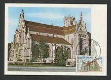 France Mk 1969 Église de Brou iglesia maximum tarjeta Carte maximum card mc cm d4525