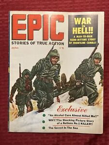 Epic Magazine Stories Of True Action March 1957 Diana Dors Sharks War Is Hell