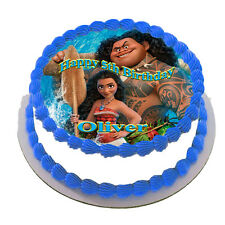 MOANA  REAL EDIBLE ICING  CAKE TOPPER  FROSTING SHEET