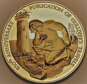Gullivers Travels 250th Anni Solide Bronze Franklin Mint Médaillon ~ Jonathan