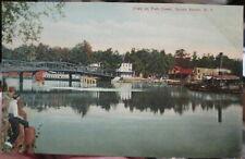 c1910 View on Fish Creek at Sylvan Beach New York NY postcard