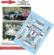 Decals 1/18 réf 818 Porsche 911 Sc Frequelin  Tour de Corse 1982