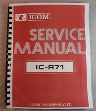 Icom IC-R71 Service Manual - Premium Card Stock Covers & 28lb Paper!