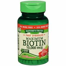 Nature's Truth Maximum Biotin 10,000 mg Fast Dissolve Tabs Berry 120 TB 3 Packs