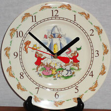 """Royal Doulton Bunnykins """"2002"""" Nursery Battery Operated Plate Clock New In Box"""