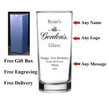 Personalised HighBall Gin Glass, Birthday Gift 18th 21st 30th 40th 50th 60th