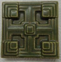 "FRANK LLOYD WRIGHT Motawi Tileworks STORER HOUSE Art Tile  4"" x 4"" Mission Style"