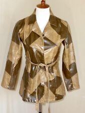 Vintage 1970's Jazzie Girl Women's Vinyl Patchwork Belted Jacket Blazer Sz S-M