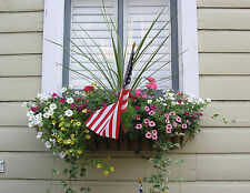 "36"" Wrought Iron Window Box, Hayrack Garden Planter with Coco Liner"